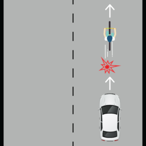 Cyclist Being Rear Ended by Car