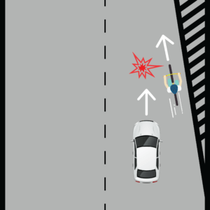Cyclist during Merging Lanes