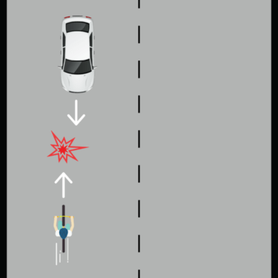 Cyclist Riding in the Wrong Direction