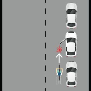 Cyclist Hitting an Opened Car Door
