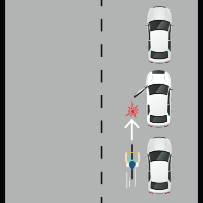 Cyclist Hitting an Opened Car Door