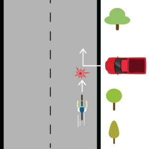 Car Hits Cyclist When Pulling Out