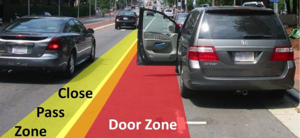 car-door-zone-e1513662738320 35 Tips to Stay Safe on the Road from The Geeky Cyclist
