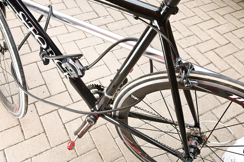 A Cable Lock on a Bike Frame