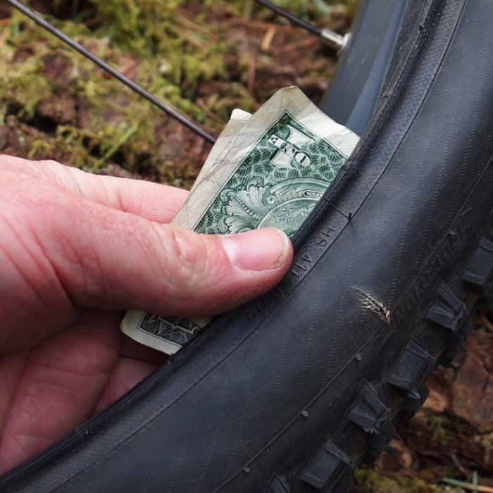 One Dollar Bill Trick to Fix Punctures