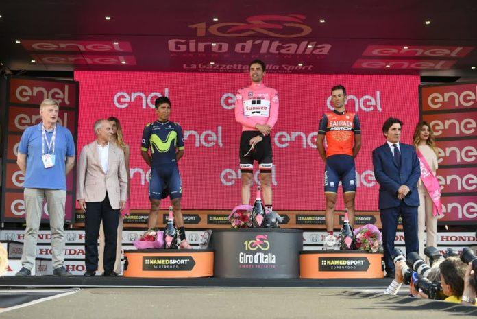 Giro d Italia 2017 Final Podium