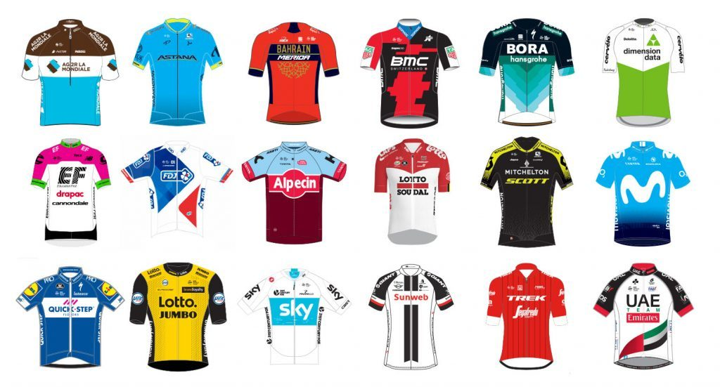 Giro d Italia World Tour Teams
