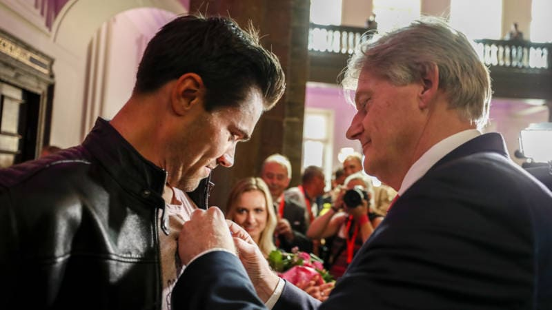 Tom Dumoulin Knighted in Maastricht