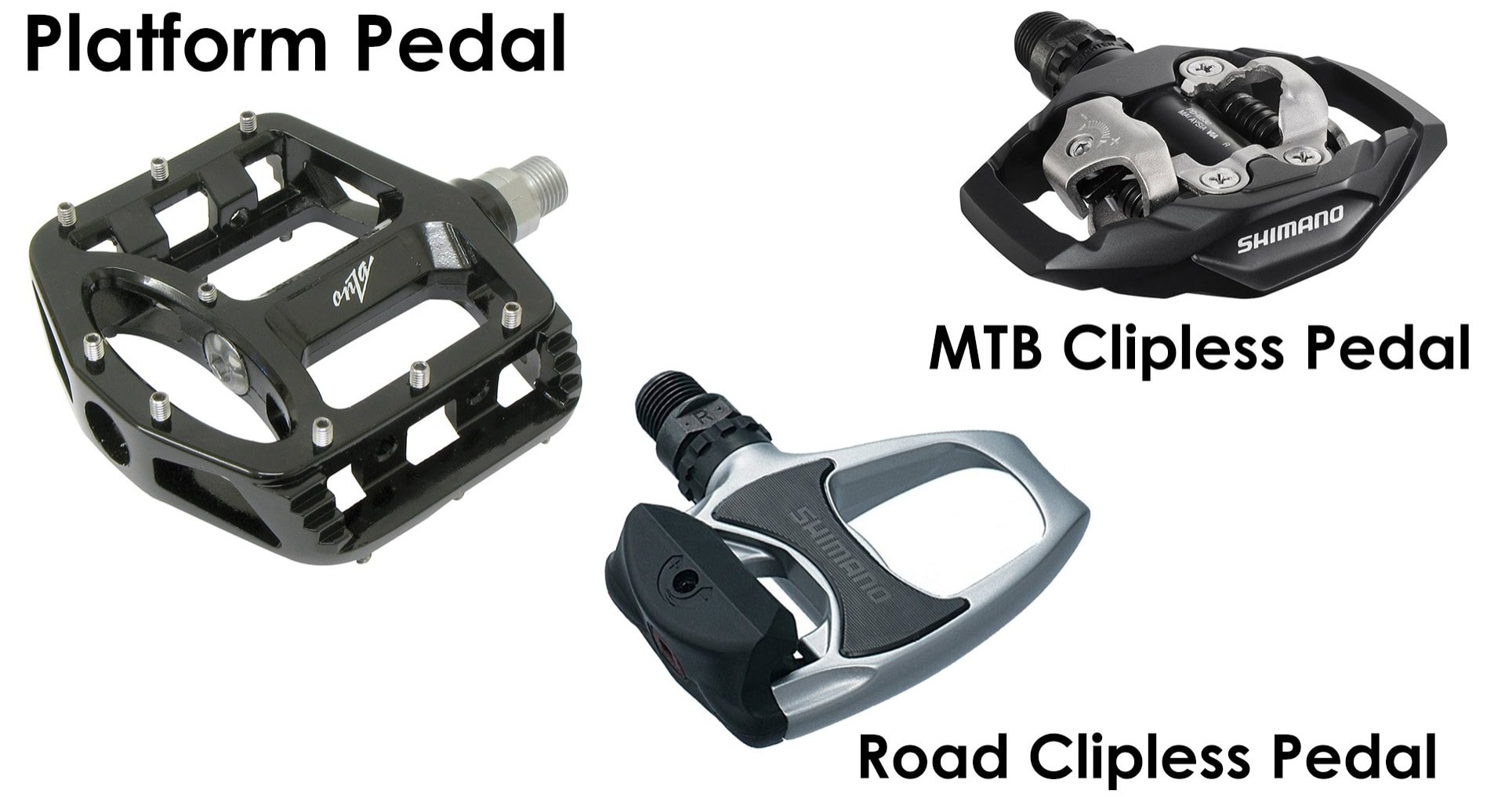 3 Types of Bicycle Pedals