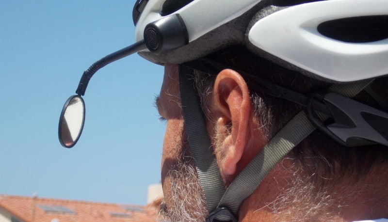 Cycling Rear View Mirror on Helmet