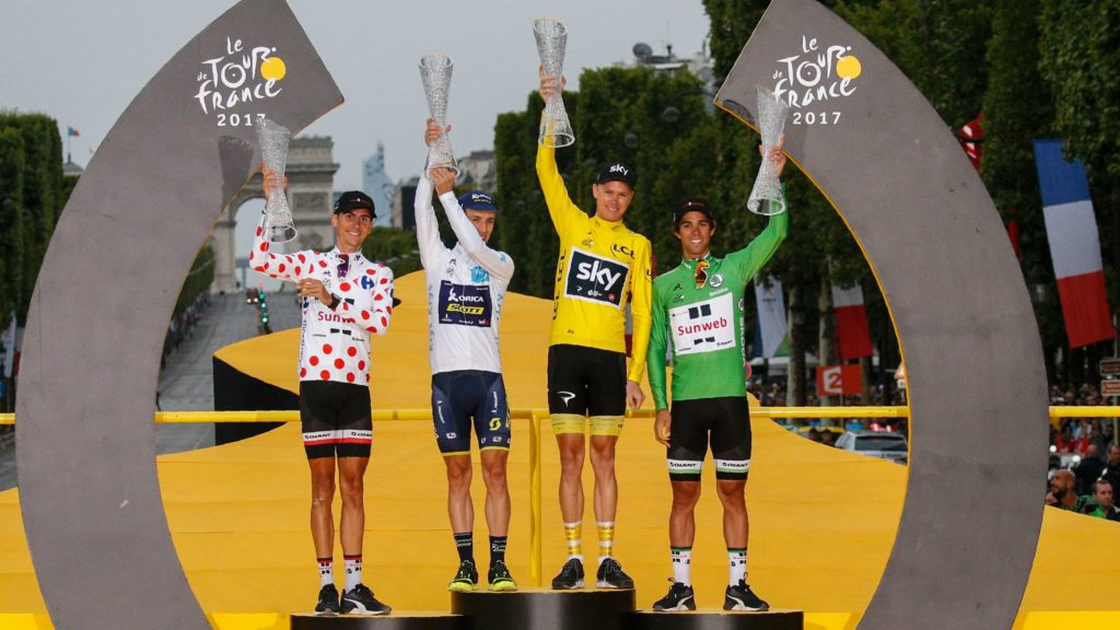 Tour de France 2017 Classification Jerseys