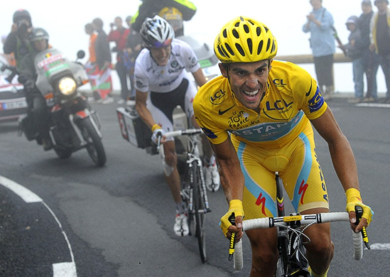 Alberto Contador and Andy Schleck at the Tour de France