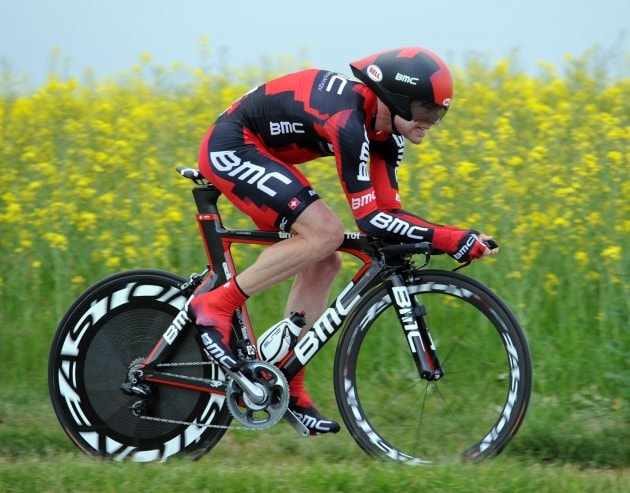 Cadel Evans at the 2011 Tour de France ITT