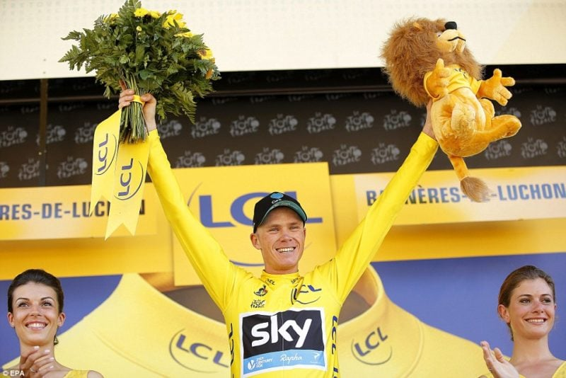 Chris Froome in Yellow Jersey