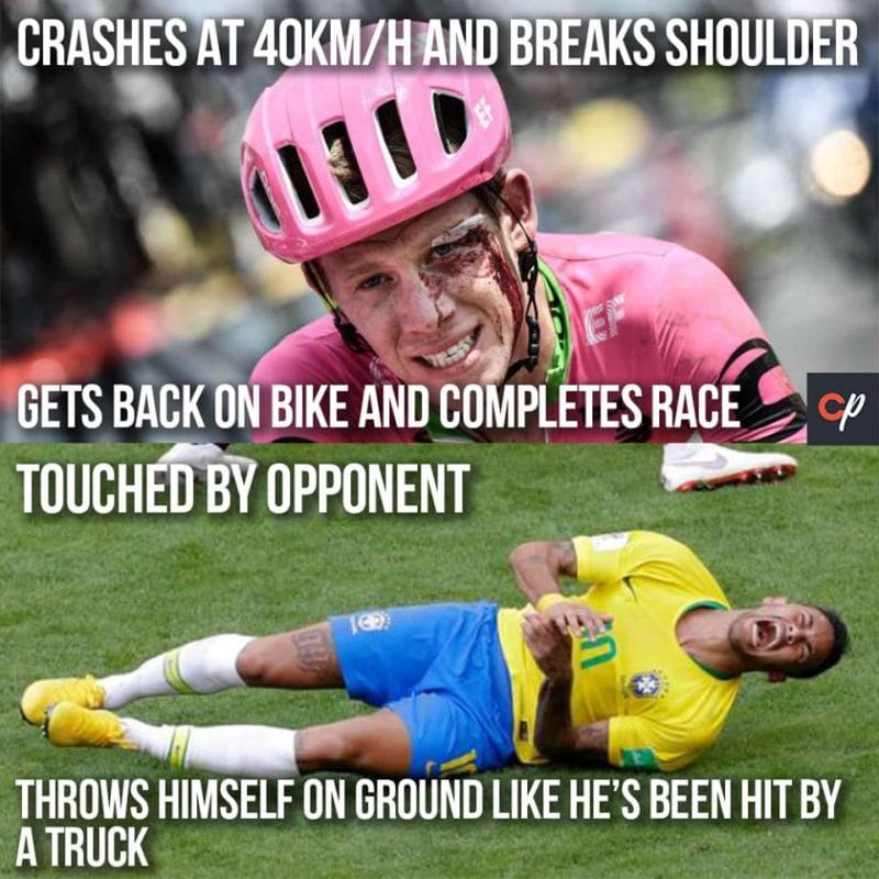 Neymar and Lawson Craddock Meme