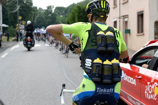 Team Saxo Tinkoff Water Bottle Vest