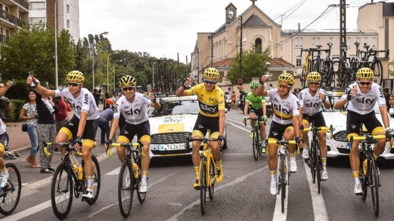 Tour de France 2017 Sky Winning Team