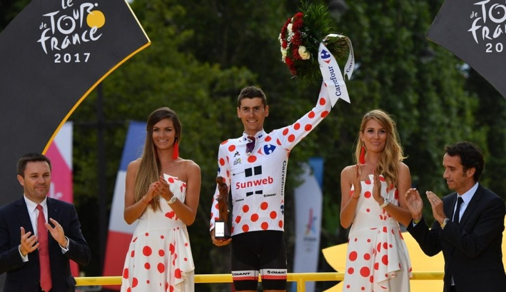 Warren Barguil in KOM Jersey