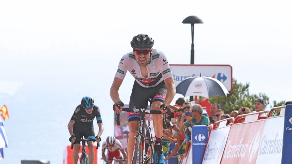 Tom Dumoulin in the White Jersey at Vuelta 2015