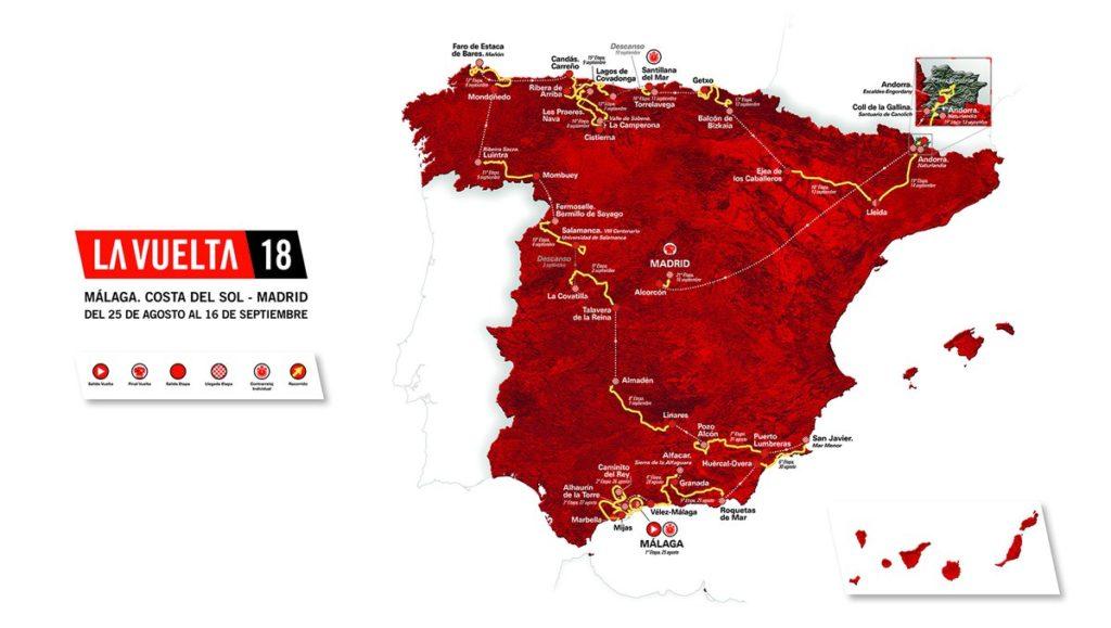 Vuelta Espana 2018 Route