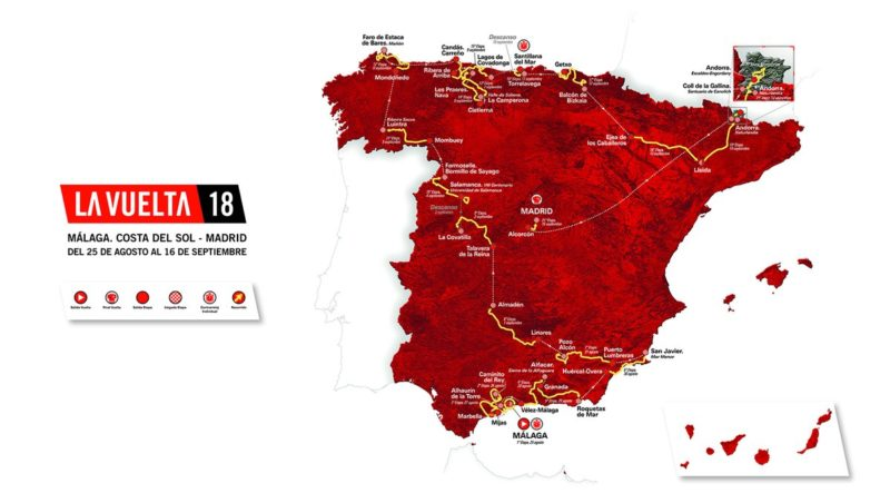 Vuelta Espana 2018 Route and Stages