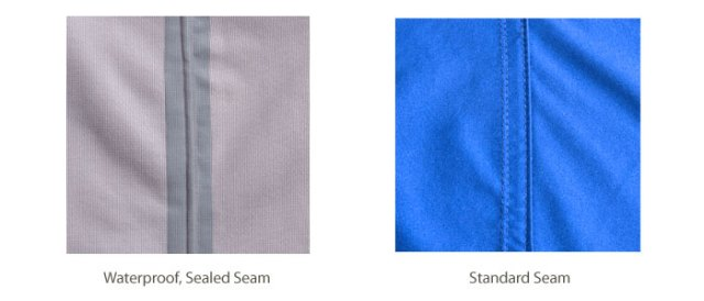 waterproof sealed seam vs standard seam