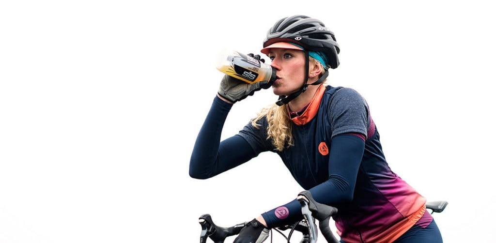 Cyclist Drinking from Bidon