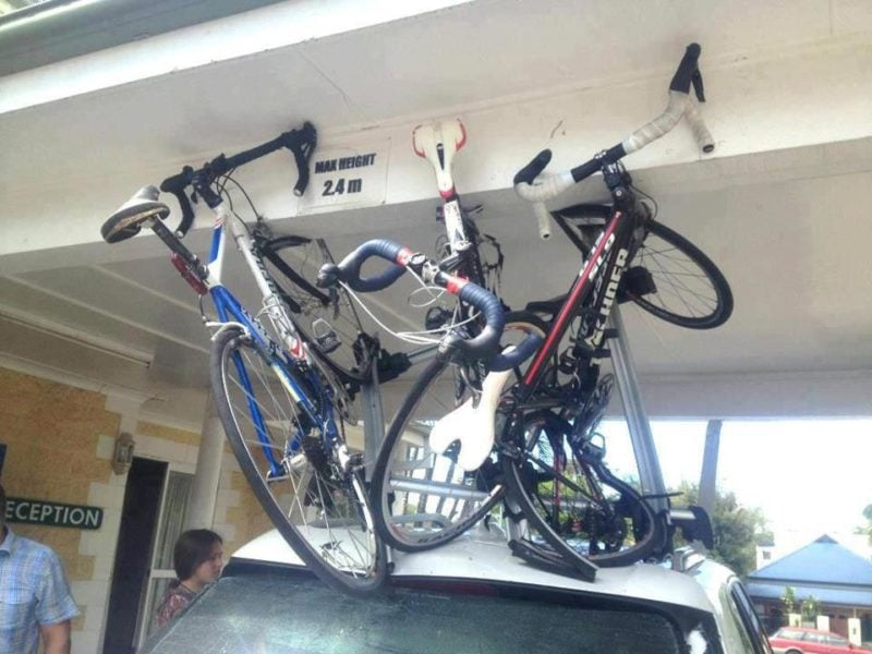 Bikes Damaged on Roof Racks