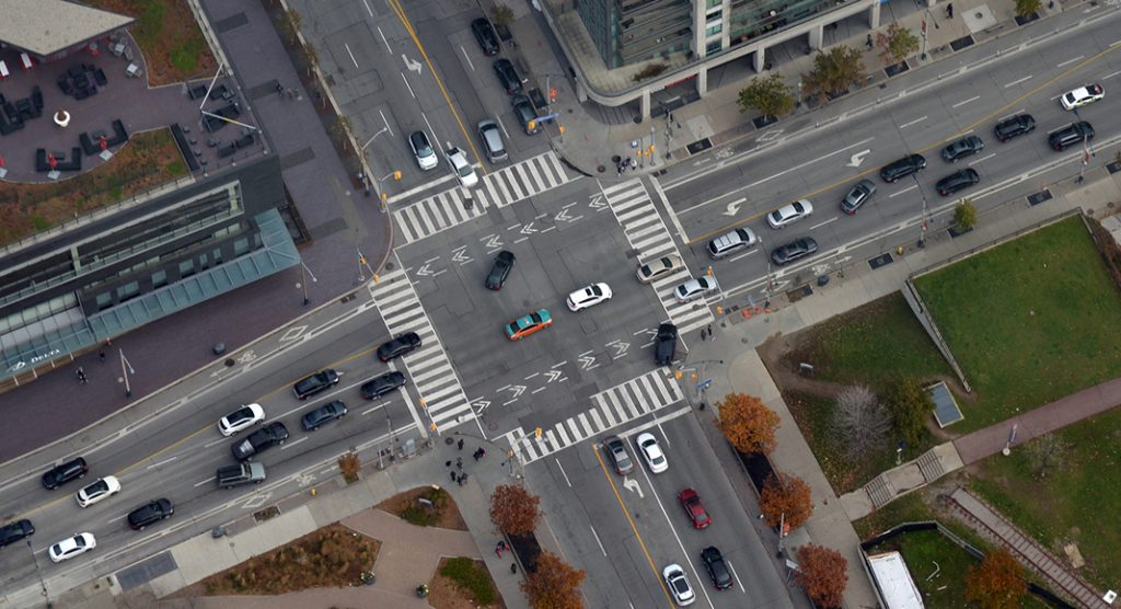 A Busy Road Intersection