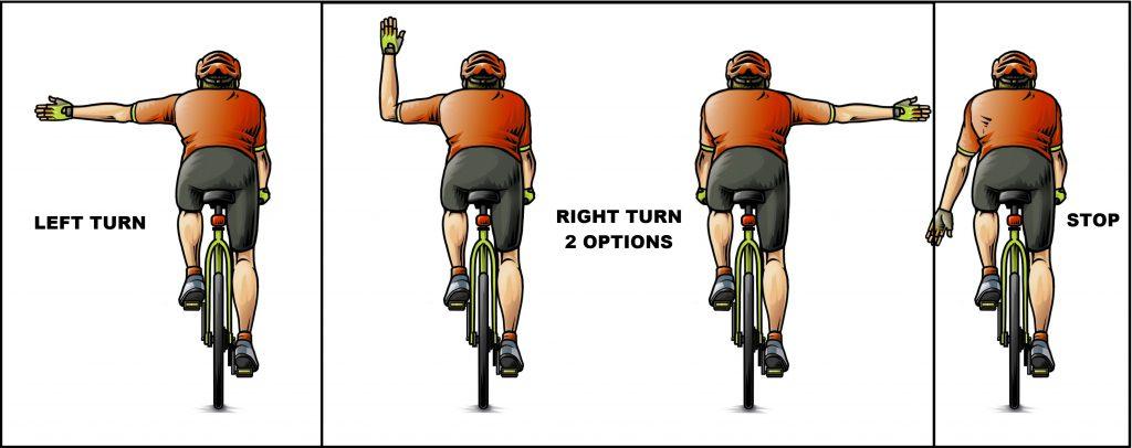Cyclist Hand Signals