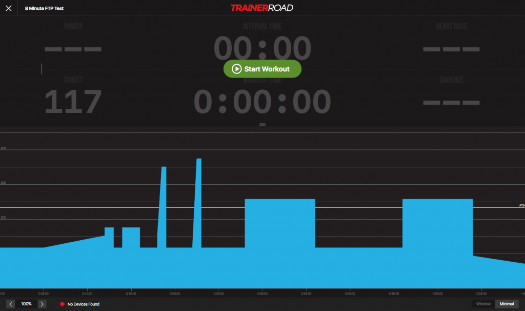 8 Minutes FTP Test