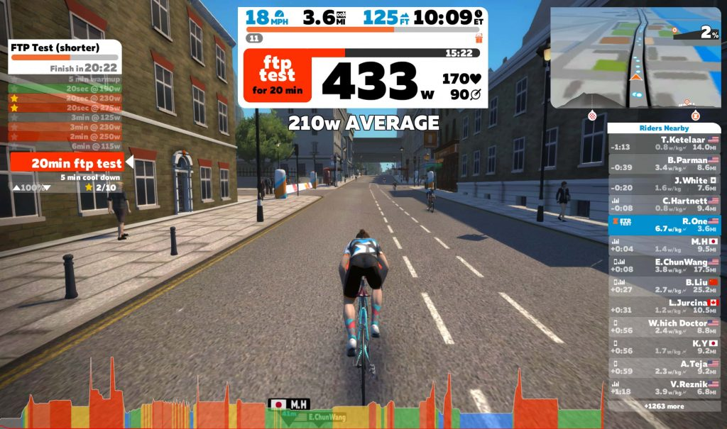 Zwift - 20 Minutes FTP Test