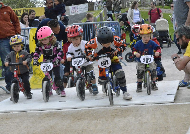 Kids Racing on Balance Bike