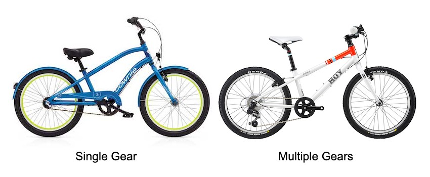 Single vs Multiple Gears Kids Bikes