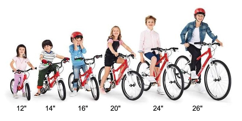 Various Kids Bike Sizes