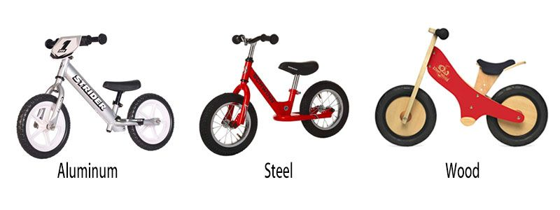 Balance Bike Frame Materials Compared