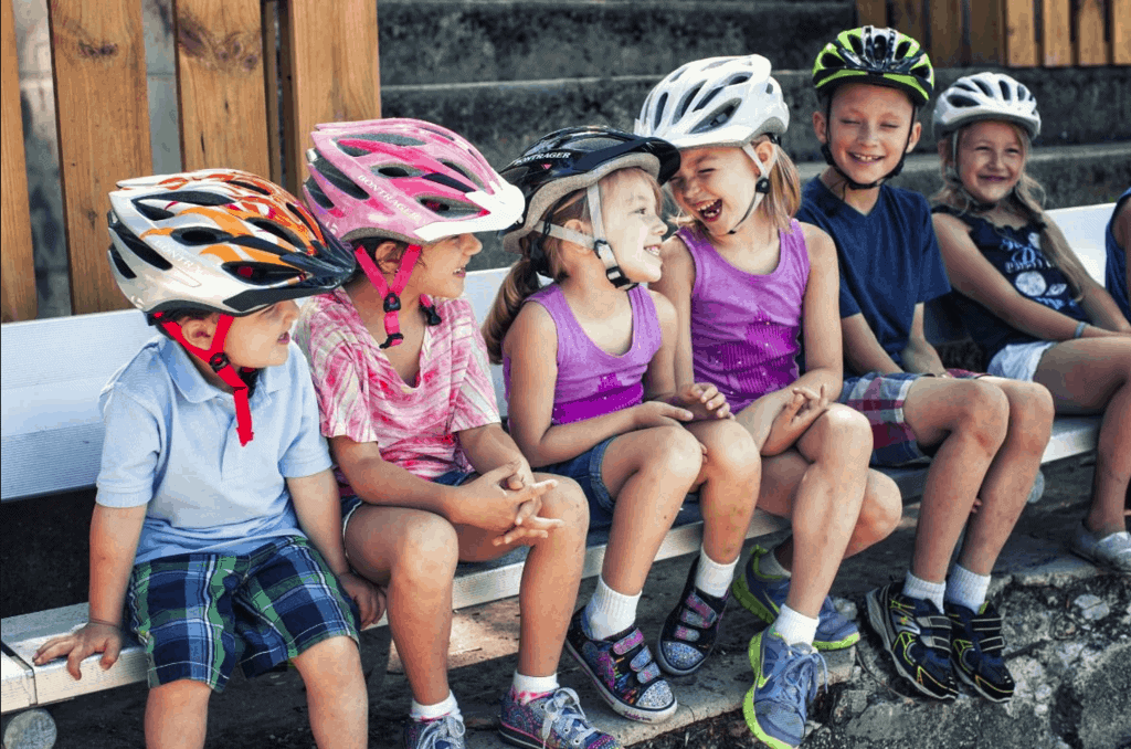 6 Kids Wearing Bike Helmets
