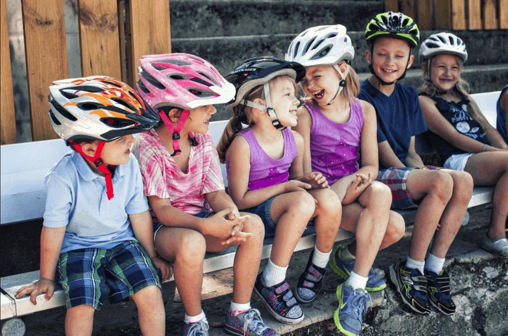 6 Kids Wearing Bike Helmets