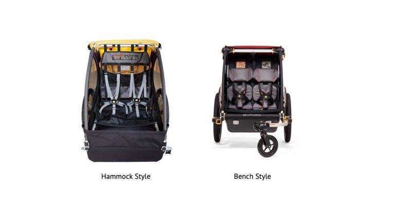 Hammock vs Bench Seat Bike Trailer