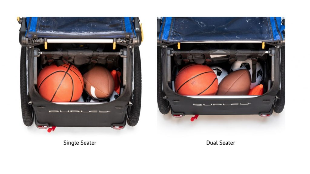 Single vs Dual Bike Trailer Storage Space