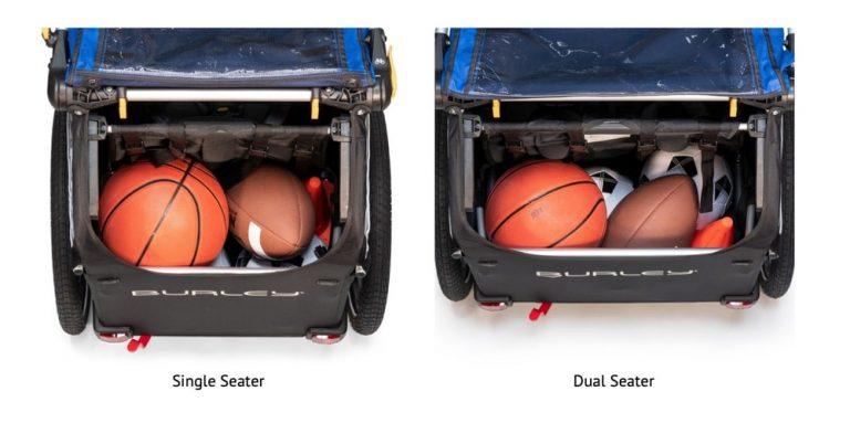 Single vs Dual Bike Trailer Storage Space