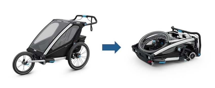 Thule Chariot Bike Trailer Folded