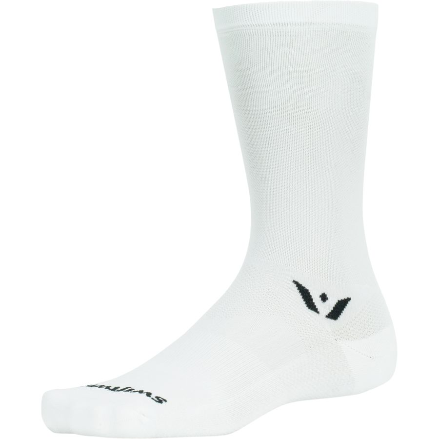 Swiftwick Cycling Socks White