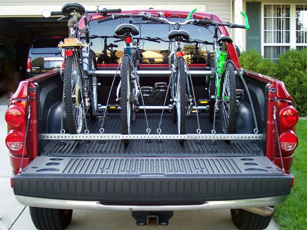 Truck Bed Bike Rack with 4 Bikes