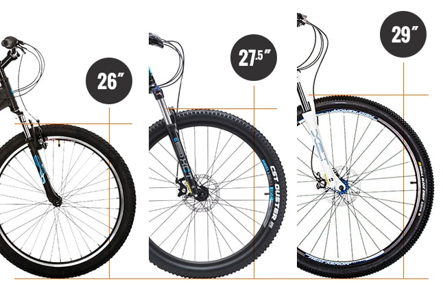 26 vs 27.5 vs 29 inch mountain bike wheels