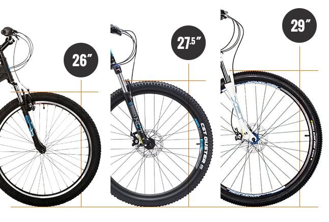 26 vs 27.5 vs 29 inch mountain bike wheels