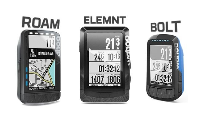 Wahoo Elemnt vs Bolt vs Roam