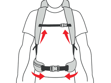 Check and Hip Straps for Backpacks