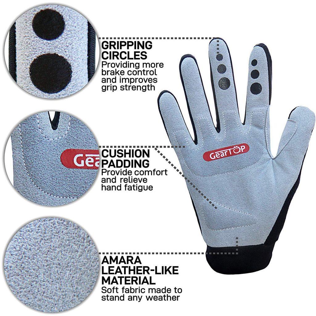 Mountain Bike Gloves Padding Levels Description