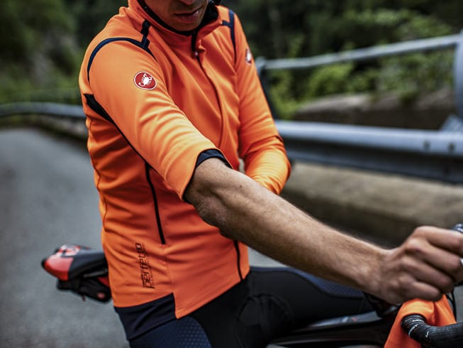 Castelli Perfetto RoS Convertible Jacket Orange